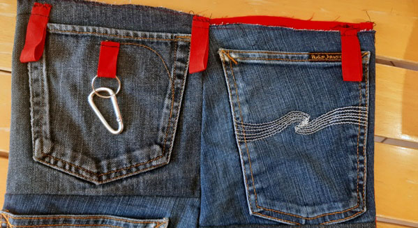 Porta oggetti da parete in jeans: idea regalo e arredamento | Genitorialmente