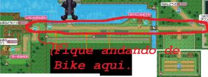 A rota da Bike está demarcada pela sutil linha vermelha.