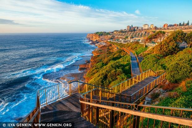 landscapes stock photography | Bondi to Coogee Coastal Walk at Sunrise #1, Bronte, Sydney, NSW, Australia, Image ID AU-BONDI-TO-COOGEE-WALK-0001