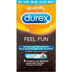 Durex Emoji Feel Fun - 6 stuks | Genotshop.nl