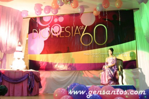 Debutante Dionisia Pacquiao on stage