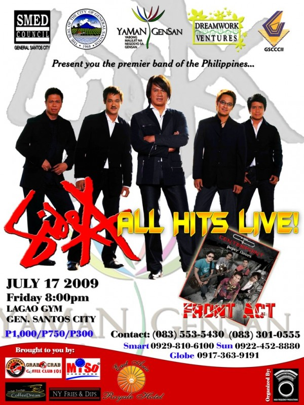 Side A All Hits Live in GenSan Poster