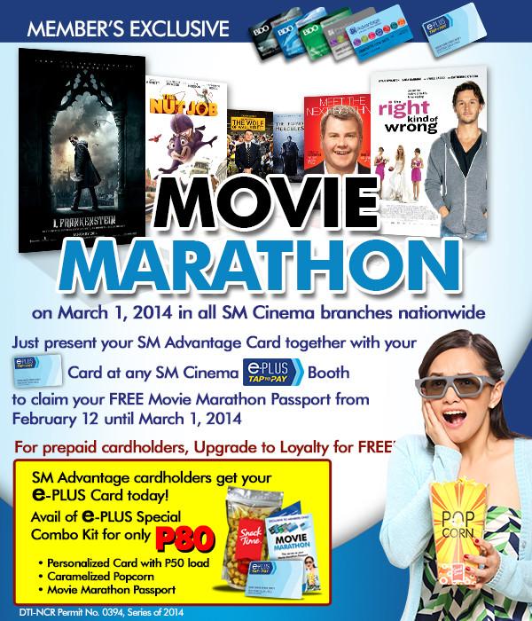 FREE Movie Marathon at SM Cinemas