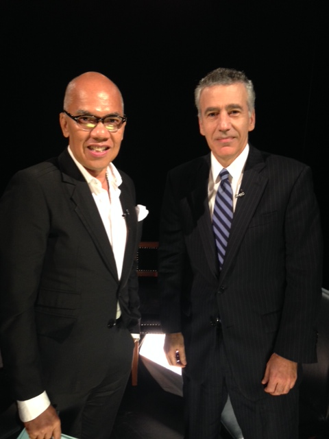 Boy Abunda with Ambassador Goldberg
