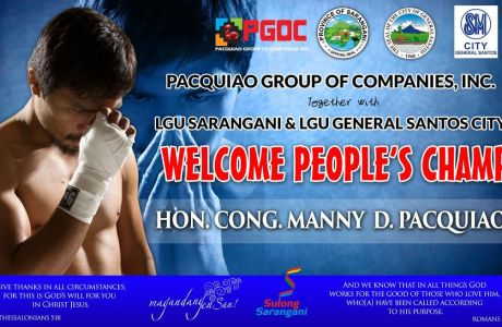 Join Pacquiao's Hero's Welcome & Prescon at SM City Gen. Santos