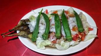 Puwesto Grill, Eggplant Okra Salad