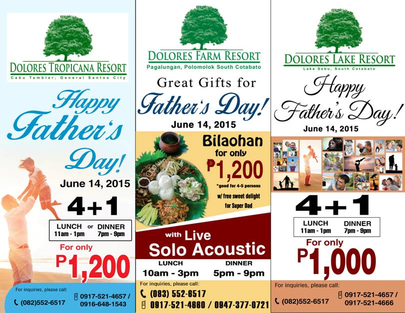 DOLORES HOTELS FATHERS DAY