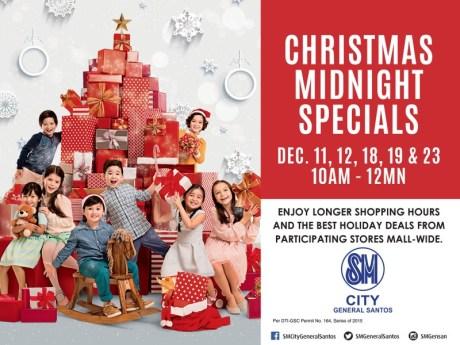 SM CITY GENSAN, CHRISTMAS MIDNIGHT SPECIALS