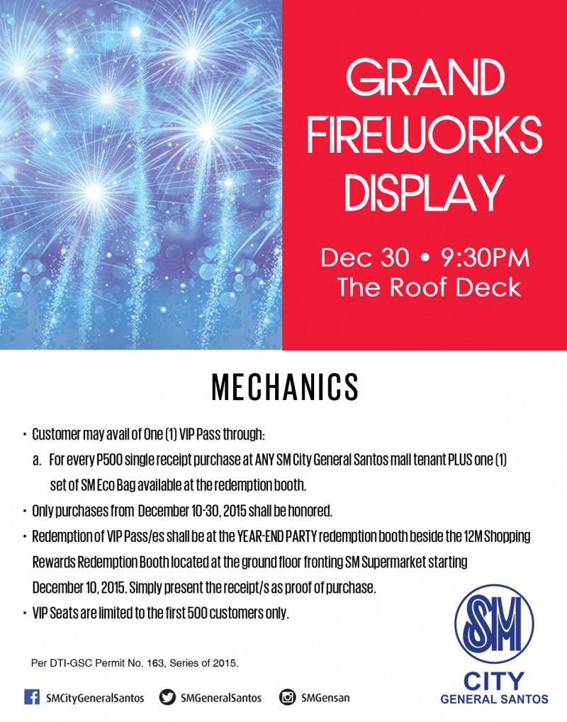 SM City Gensan Fireworks