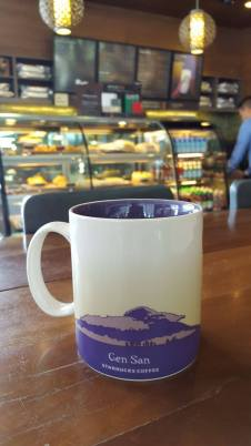 THE IMAGE OF MT. MATUTUM IS FEATURED AT THE BACK PORTION OF THE OFFICIAL GENSAN STARBUCKS MUG