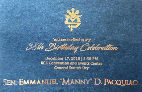 Pres. Duterte among VIPs at Senator Pacquiao's 38th Bday Celebration