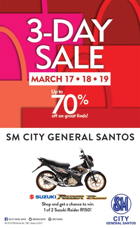 SM CITY GENSAN 3-DAY SALE