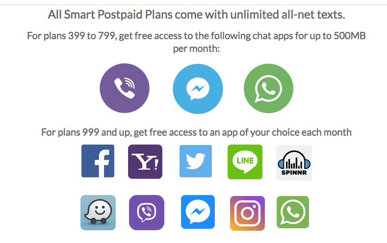 's postpaid apps