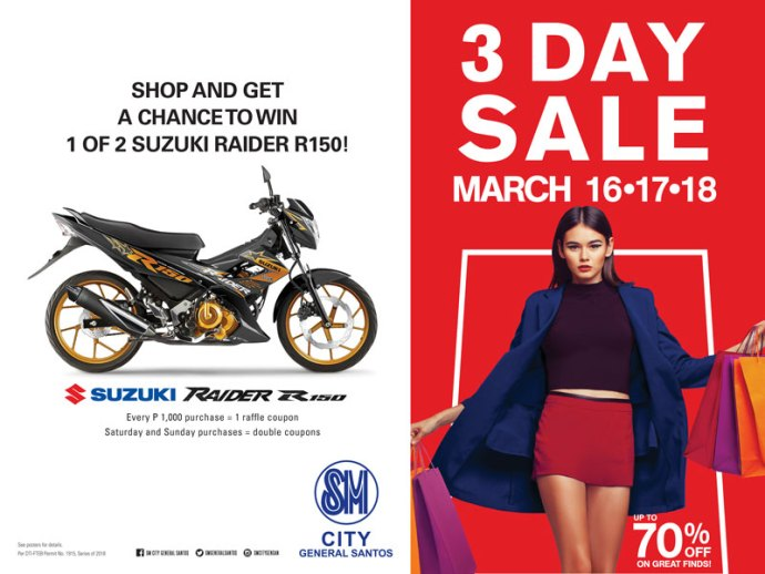 SM GENSAN 3DAY SALE (MARCH 2018)