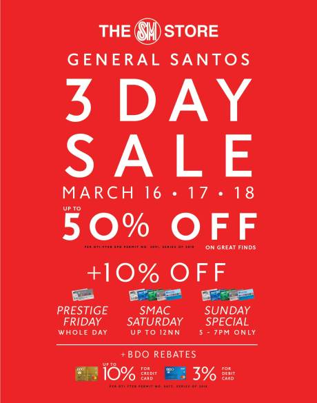 SM CITY GENSAN 3-DAY SALE (MARCH 2018)