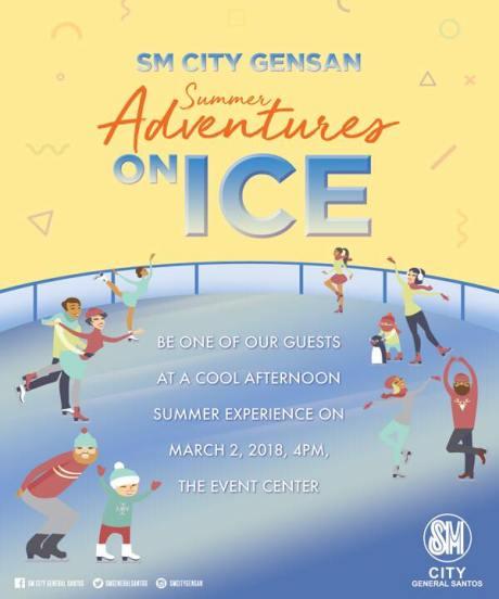 SM CITY GENSAN ICE SKATING SUMMER ADVENTURES