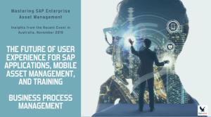 Mastering SAP Enterprise Asset Management: Insights (#2) from the Recent Event in Australia, November 2019