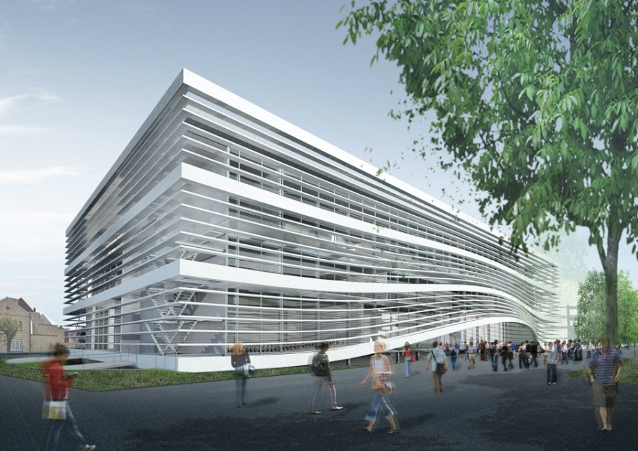 Met de verschillende nieuwbouwen zal de campus er meteen een pak beter uitzien. Illustraties © SADAR+VUGA.
