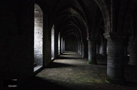 De crypte onder het Duivelsteen.