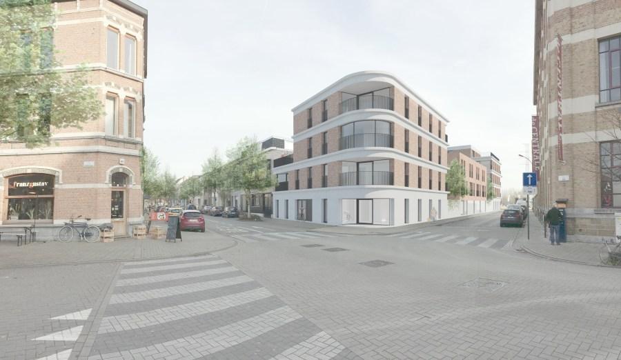 Nieuwbouw sociale woningen Kraankinderstraat gezien vanuit de Ham.