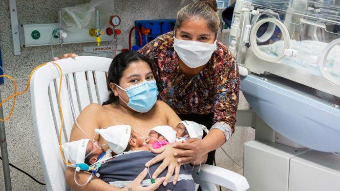 La historia de Adriana Beramendi: en plena pandemia y contra todo pronóstico fue mamá de cuatrillizos -
