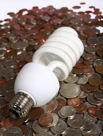 CFL - compact fluorescent bulb - with all the money it can save