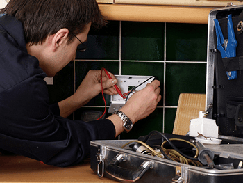 Dublin electrician services a kitchen wall socket