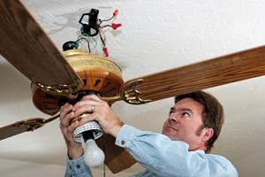 Fremont Electrician Installs a Fan