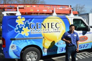 Gentec electrical service truck in pleasanton