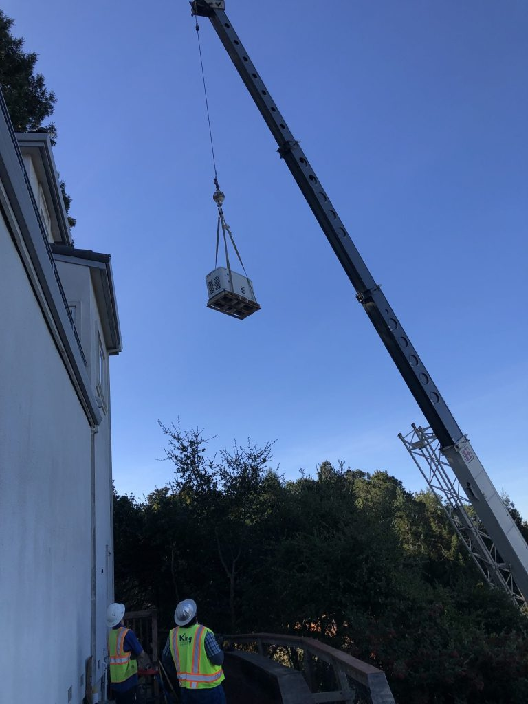 Backup Generator Crane Installation