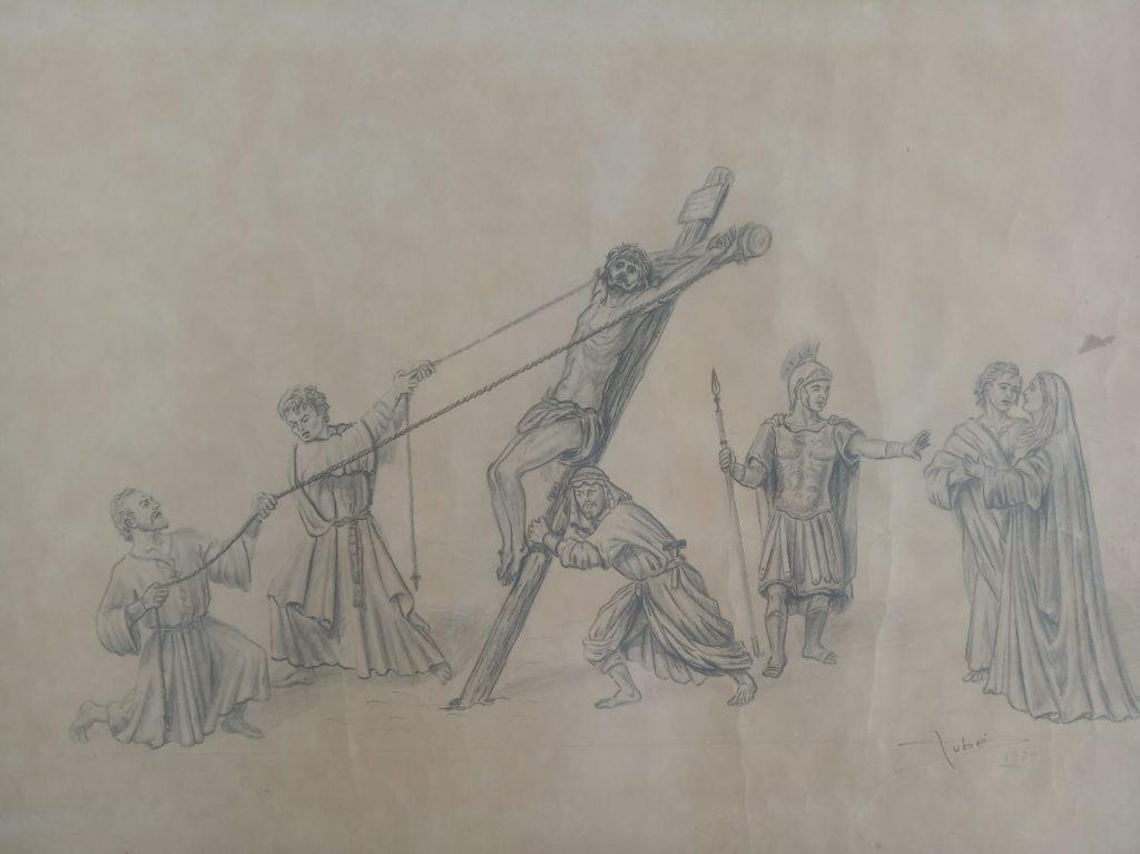 """Ntra. Sra. del Mayor Dolor y San Juan Evangelista acompañarán al Stmo. Cristo de la Exaltación en la Procesión Magna """"Camino a la gloria"""", tal y como lo diseñó Dubé de Luque"""