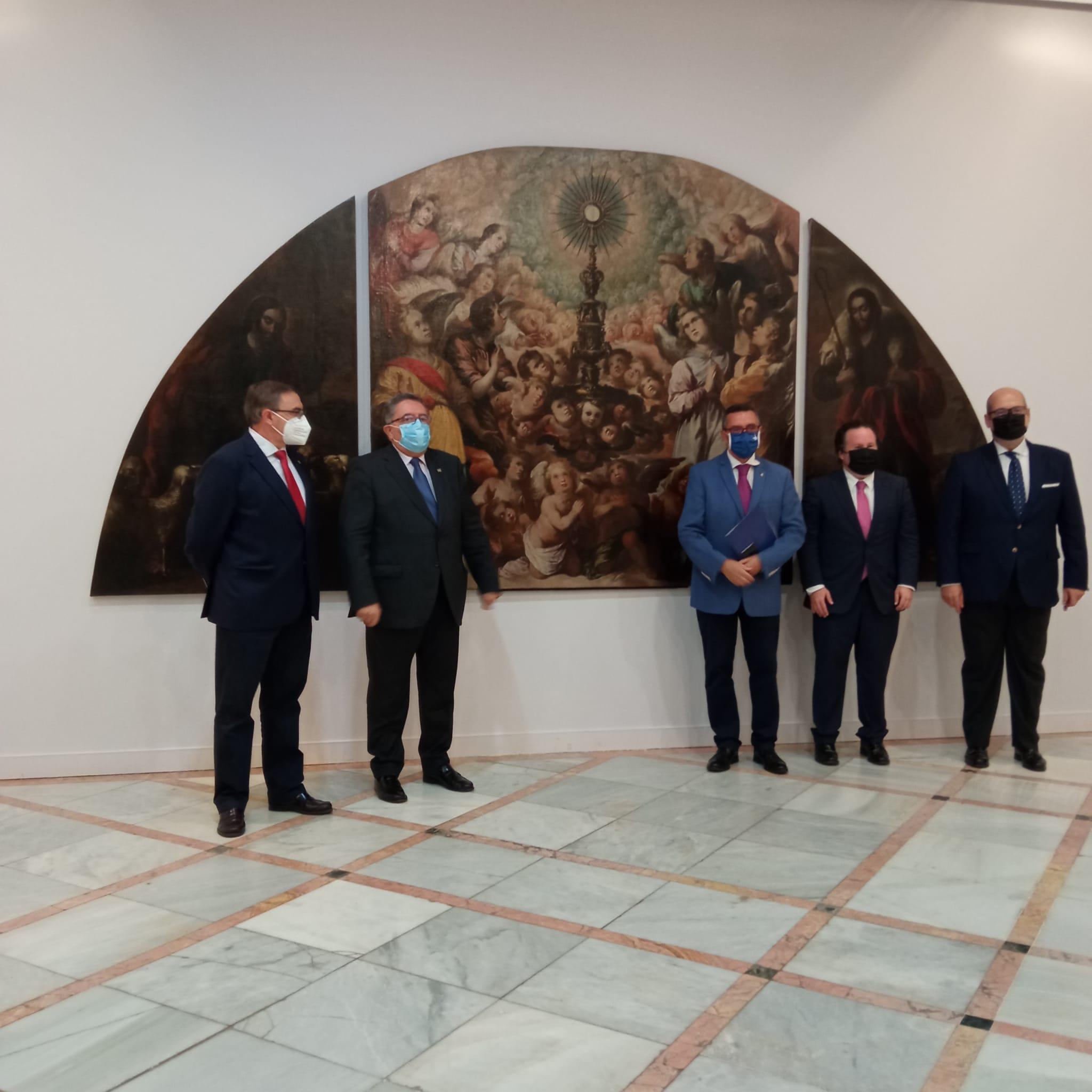 Las Siete Palabras presenta la restauración del cuadro «La Exaltación de la Eucaristía»