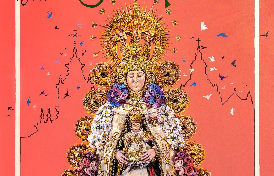 Nuria Barrera enamora a Sevilla con su espectacular cartel del Centenario de la Virgen del Rocío del Salvador