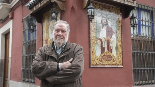 Manuel Muñoz Rodríguez, refundador y primer hermano mayor de la Hermandad del Huerto desde 1974, nombrado hermano mayor honorífico a título póstumo