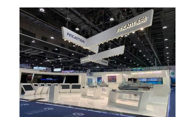 Intesa Fincantieri Abu Dhabi: nella foto lo stand Fincantieri
