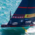 L'AC75 del team Luna Rossa Prada Pirelli