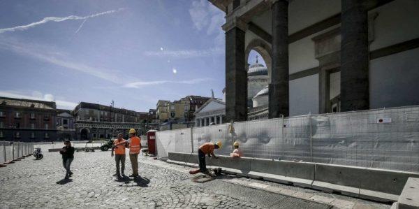 I lavori della metro al Plebiscito