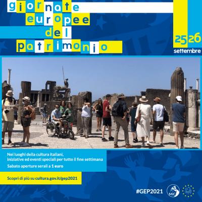 Il programma delle Giornate Europee del Patrimonio a Pompei