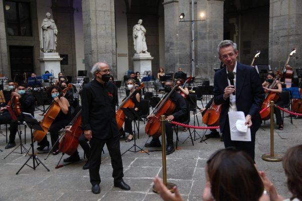 La Nuova Orchestra Scarlatti, tra musica e politica, festeggia Manfredi