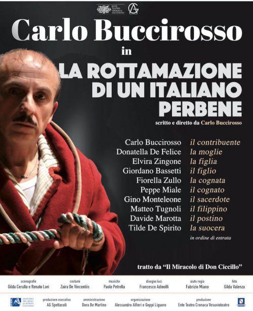 L'Augusteo di Napoli riparte con Carlo Buccirosso