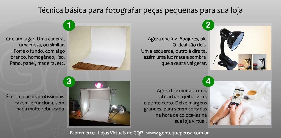 Fotografando seus produtos para sua loja virtual