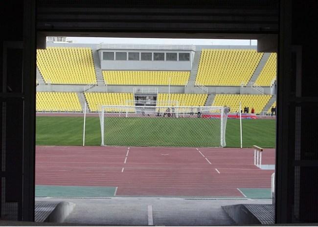 Eργασίες στο γήπεδο της Δόξας η οποία πάει Καυτατζόγλειο