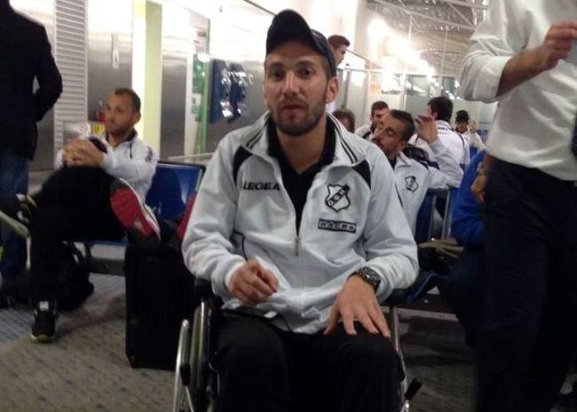 """Με το… """"καροτσάκι"""" στο αεροδρόμιο ο Περογαμβράκης!"""