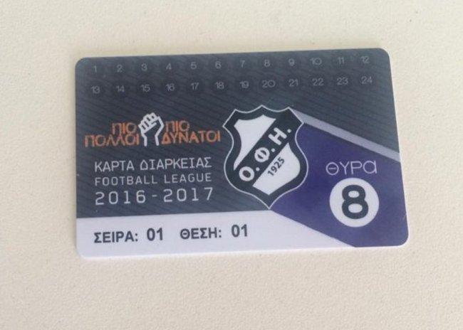 Εισιτήρια διαρκείας του ΟΦΗ και με… πιστωτική κάρτα