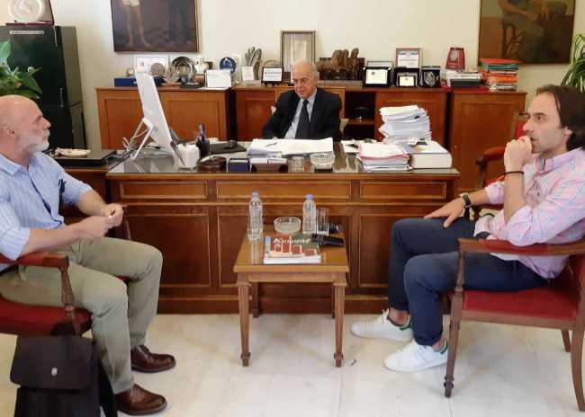 Συνάντηση ΟΦΗ – Λαμπρινού ξεκινούν οι διαδικασίες για τις εκτάσεις στον Σκαφιδαρά