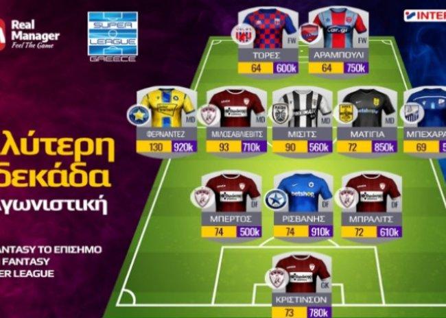 Fantasy της Super League 1: Η καλύτερη 11άδα της 4ης αγωνιστικής στο επίσημο παιχνίδι της Λίγκας