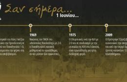 60 χρόνια Α' Εθνική: Σαν σήμερα 1 Ιουνίου