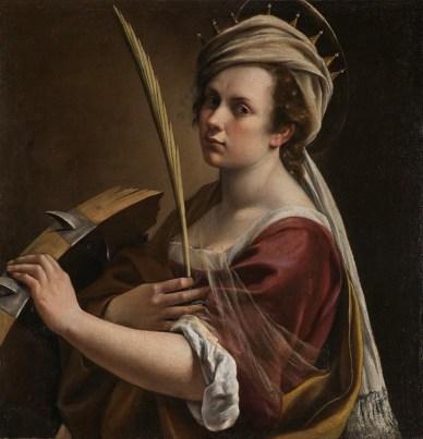 Autoritratto come S. Caterina di Alessandria
