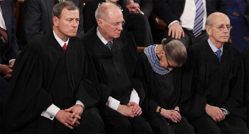 Ruth Bader Ginsberg dozing during the State of the Union