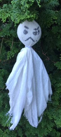 My son's ghost - has a frown and some stitches